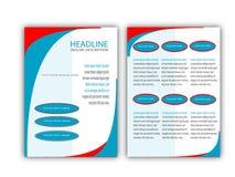 Progettazione creativa del modello dell'aletta di filatoio di affari Immagine Stock