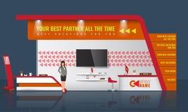 Progettazione creativa del supporto di mostra Modello commerciale della cabina Vettore di identità corporativa Fotografia Stock