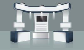 Progettazione creativa del supporto di mostra Modello della cabina Vettore di identità corporativa Immagini Stock Libere da Diritti
