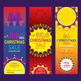Progettazione creativa dell'aletta di filatoio di Buon Natale illustrazione di stock