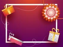 Progettazione creativa della cartolina d'auguri con il bello rakhi royalty illustrazione gratis