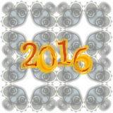 Progettazione creativa della cartolina d'auguri del buon anno 2016 Immagini Stock