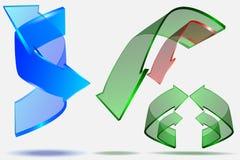 progettazione creativa della freccia 3d Fotografie Stock