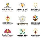 Progettazione creativa di simbolo di idee Immagine Stock