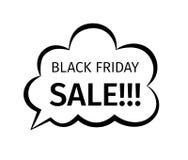 Progettazione creativa di vendita di Black Friday nel retro stile Fotografie Stock