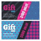 Progettazione creativa per la carta o il buono di regalo Fotografia Stock