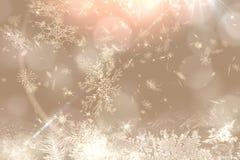 Progettazione crema del modello del fiocco della neve Fotografia Stock Libera da Diritti