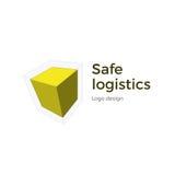 Progettazione cubica di logo Fotografia Stock