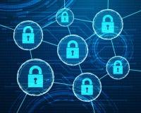 Progettazione cyber di protezione dei dati Fotografia Stock