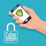 Progettazione cyber di sicurezza Fotografie Stock Libere da Diritti