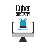 Progettazione cyber di sicurezza Fotografia Stock Libera da Diritti
