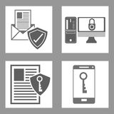 Progettazione cyber di sicurezza Immagini Stock