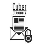 Progettazione cyber di sicurezza Fotografie Stock