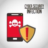 Progettazione cyber di sicurezza Fotografia Stock