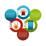 Progettazione cyber di sicurezza Immagine Stock