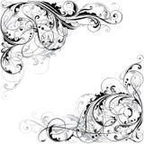 Progettazione d'angolo floreale astratta Fotografia Stock