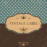 Progettazione d'annata dell'etichetta con retro fondo royalty illustrazione gratis