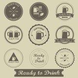 Progettazione d'annata dell'etichetta della birra Fotografia Stock