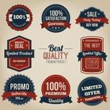 Progettazione d'annata dell'etichetta di qualità premio Immagini Stock Libere da Diritti
