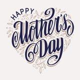 Progettazione d'annata della cartolina d'auguri di festa della Mamma illustrazione vettoriale