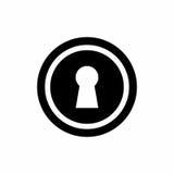 Progettazione d'annata di vettore del buco della serratura della porta Fotografia Stock Libera da Diritti