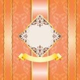 Progettazione d'annata elegante della struttura per la cartolina d'auguri Fotografia Stock Libera da Diritti