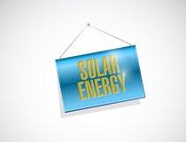progettazione d'attaccatura a energia solare dell'illustrazione dell'insegna Immagine Stock