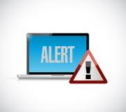 progettazione d'avvertimento attenta dell'illustrazione di concetto del computer Fotografie Stock Libere da Diritti