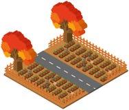 progettazione 3D per la scena dell'azienda agricola con le carote royalty illustrazione gratis