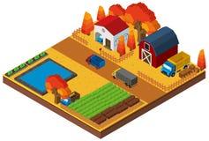 progettazione 3D per le case ed il terreno coltivabile illustrazione di stock