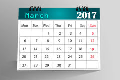 Progettazione da tavolino del calendario Fotografia Stock Libera da Diritti