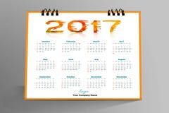 Progettazione da tavolino 2017 del calendario royalty illustrazione gratis