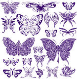 Progettazione decorativa della farfalla Immagini Stock