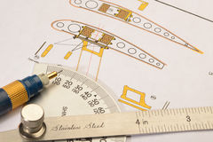 Progettazione degli aerei Fotografia Stock