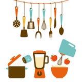 progettazione degli strumenti della cucina Fotografie Stock
