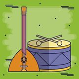 Progettazione degli strumenti musicali illustrazione vettoriale