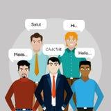 Progettazione degli uomini dell'avatar royalty illustrazione gratis