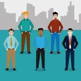 Progettazione degli uomini dell'avatar illustrazione di stock