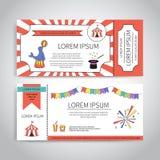 Progettazione dei biglietti del circo Immagine Stock Libera da Diritti