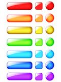 Progettazione dei bottoni di web dell'arcobaleno illustrazione vettoriale