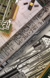 Progettazione dei circuiti stampato Fotografia Stock