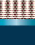 Progettazione dei diamanti bianchi, rossi, grigi e marroni con il nastro blu Fotografia Stock Libera da Diritti