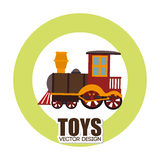 Progettazione dei giocattoli sopra l'illustrazione bianca di vettore del fondo Fotografie Stock