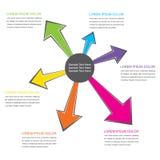 progettazione dei informazione-grafici di affari illustrazione di stock