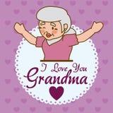 Progettazione dei nonni Fotografie Stock