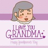 Progettazione dei nonni Immagine Stock