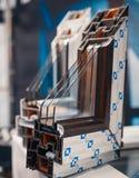 Progettazione dei profili del PVC per la finestra immagini stock
