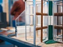 Progettazione dei profili del PVC per la finestra fotografia stock libera da diritti