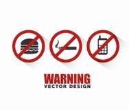 progettazione dei segni di proibizione royalty illustrazione gratis