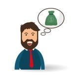 Progettazione dei soldi Icona di affari Concetto finanziario dell'oggetto Fotografia Stock Libera da Diritti